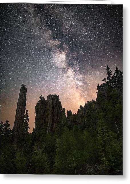 Glowing Horizon Greeting Card