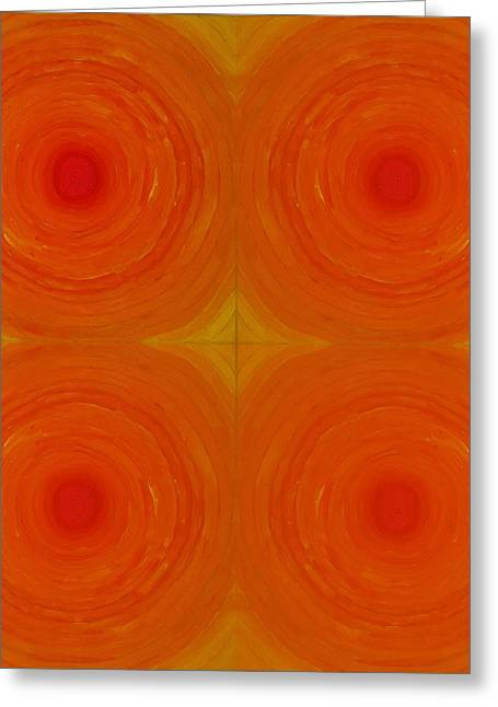 Glowing Orange Greeting Card by Christopher Rowlands