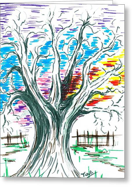Glowing Through The Branches Greeting Card