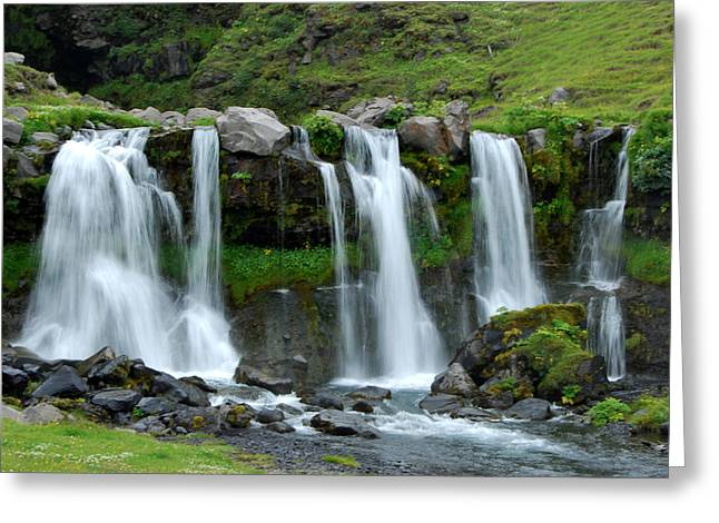 Greeting Card featuring the photograph Gluggafoss by Marilynne Bull