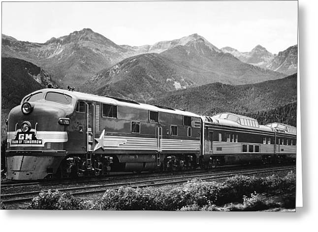Gm Train Of Tomorrow Greeting Card