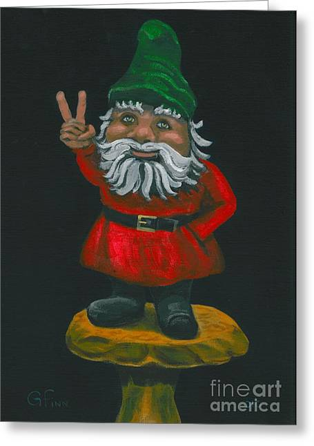 Gnome Of Peace Greeting Card