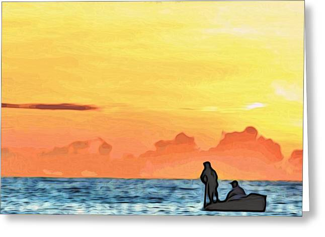 Go Fishing Greeting Card by Alexandre Ivanov