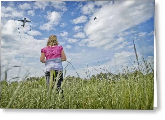 Go Fly A Kite Greeting Card by Steve Shockley