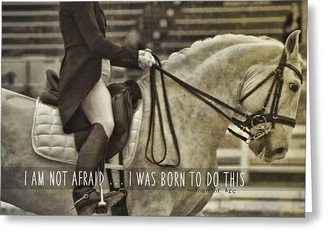 Greeting Card featuring the photograph Go For Baroque Quote by Dressage Design