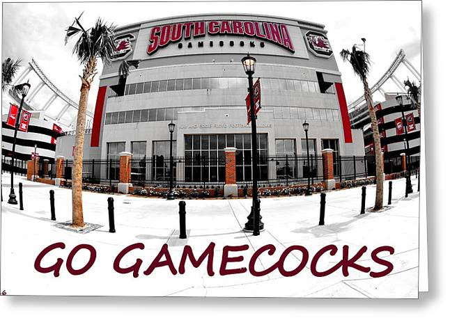 Go Gamecocks Greeting Card