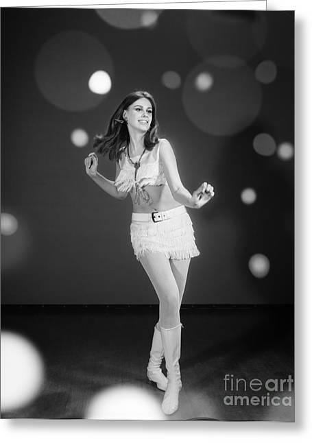 Go-go Dancer, C.1960s Greeting Card
