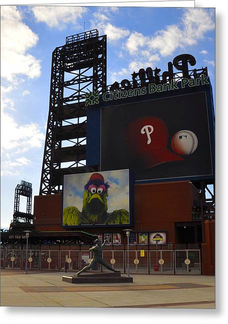 Go Phillies - Citizens Bank Park - Left Field Gate Greeting Card by Bill Cannon