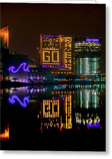 Go Ravens Baltimore Inner Harbor Greeting Card