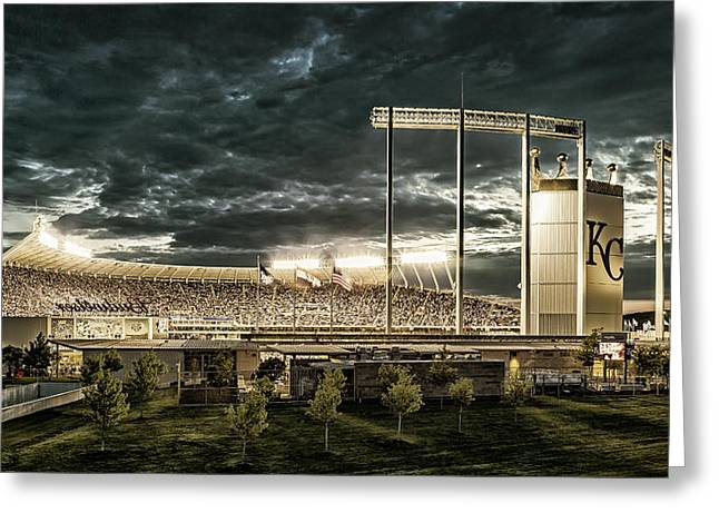 Go Royals - Black And Gold Greeting Card