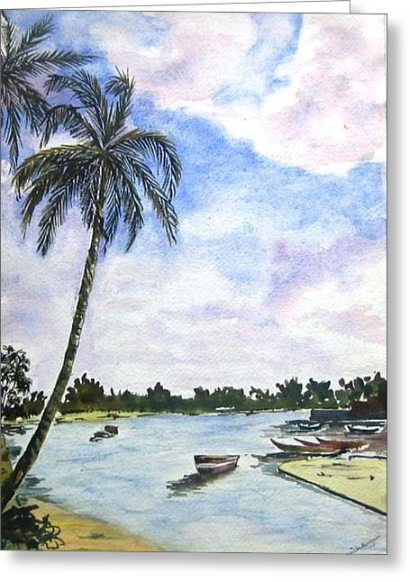 Goa Greeting Card by Monika Deo