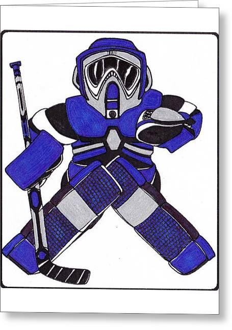 Goalie Blue Greeting Card