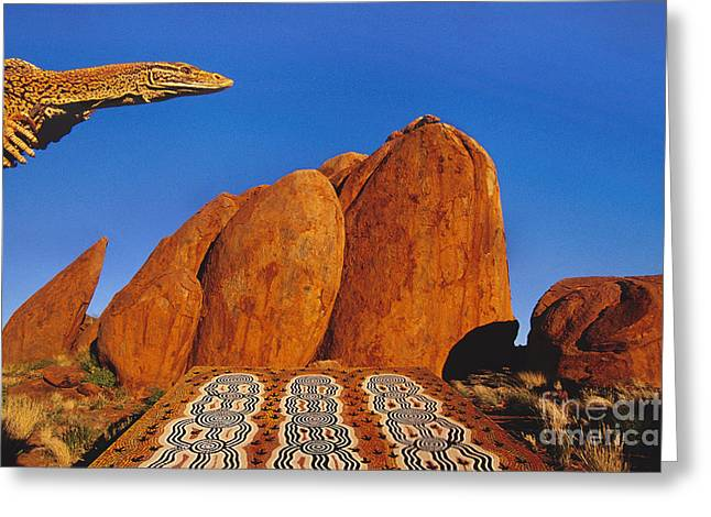 Goanna Lizard, Central Australia Greeting Card