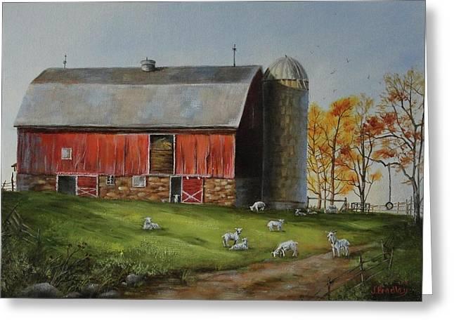 Goat Farm Greeting Card