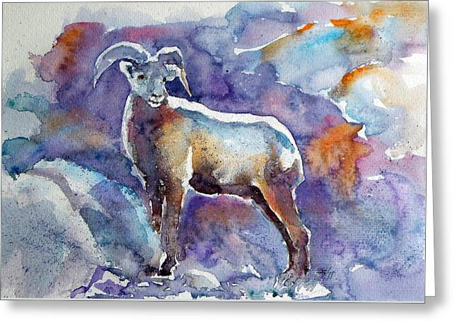 Goat Greeting Card by Kovacs Anna Brigitta
