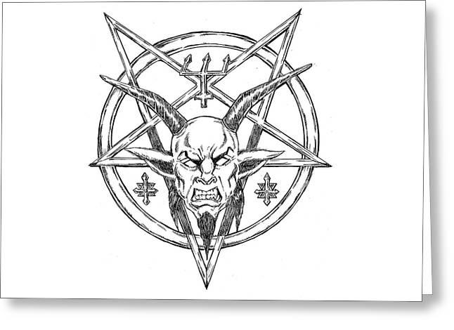 Goatlord Logo Greeting Card by Alaric Barca