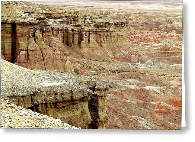 Gobi Desert White Cliffs Greeting Card by Diane Height