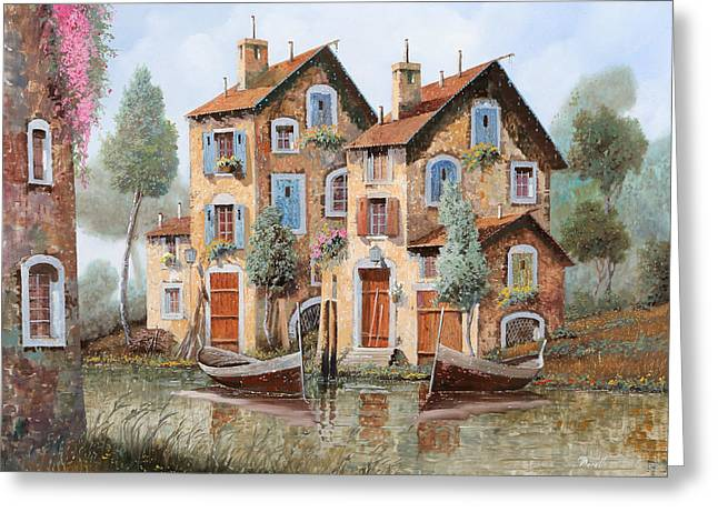 Gocce Sulle Case Greeting Card by Guido Borelli