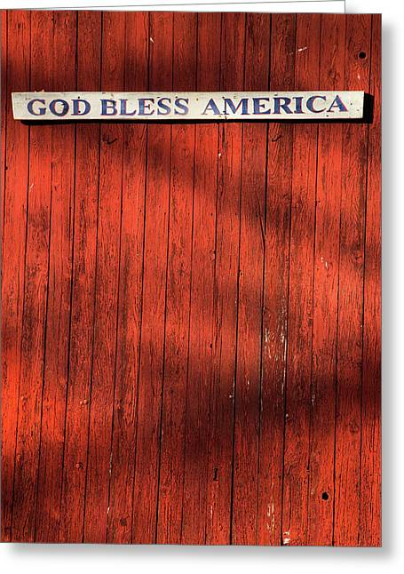 God Bless America Greeting Card by Karol Livote