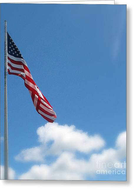 God Bless America Greeting Card by Mg Blackstock