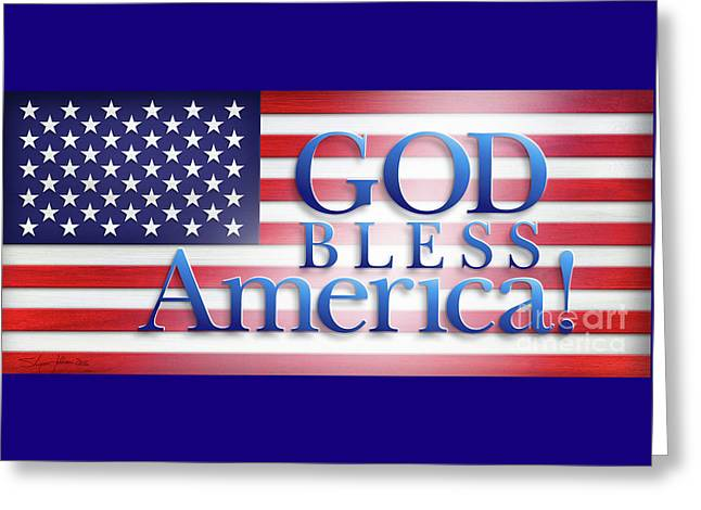 God Bless America Greeting Card