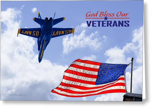 God Bless Our Veterans Greeting Card