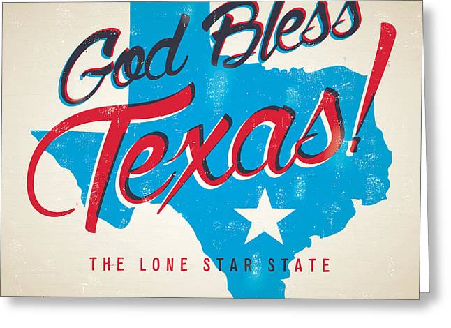 God Bless Texas Greeting Card