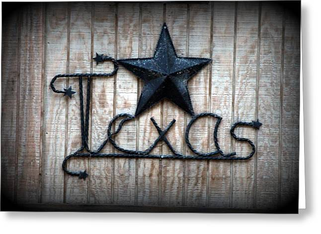 Greeting Card featuring the photograph God Bless Texas by Kathy  White