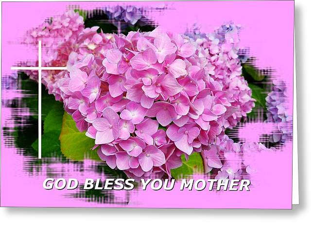 God Bless You Mother Greeting Card