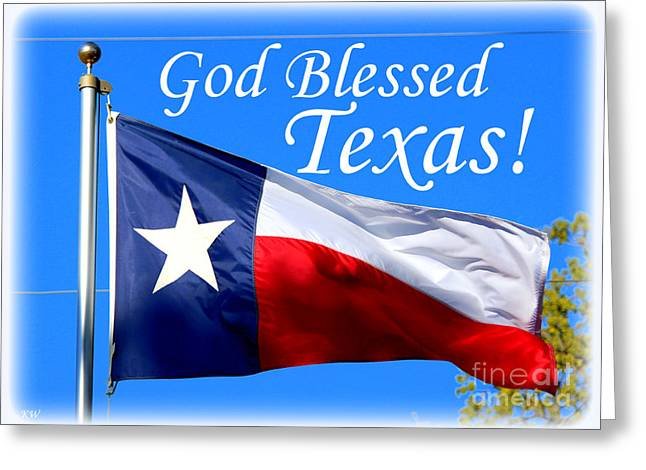 God Blessed Texas Greeting Card by Kathy White
