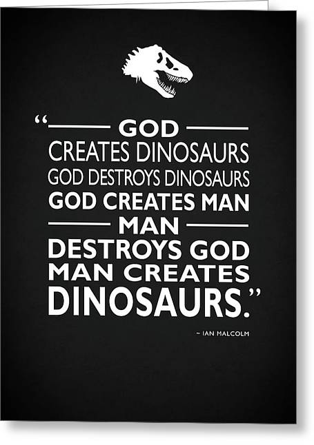 God Creates Dinosaurs Greeting Card by Mark Rogan