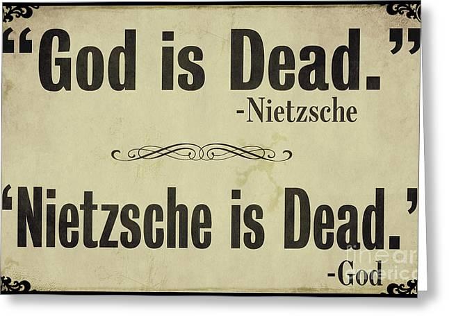 God Is Dead Nietzsche  Greeting Card