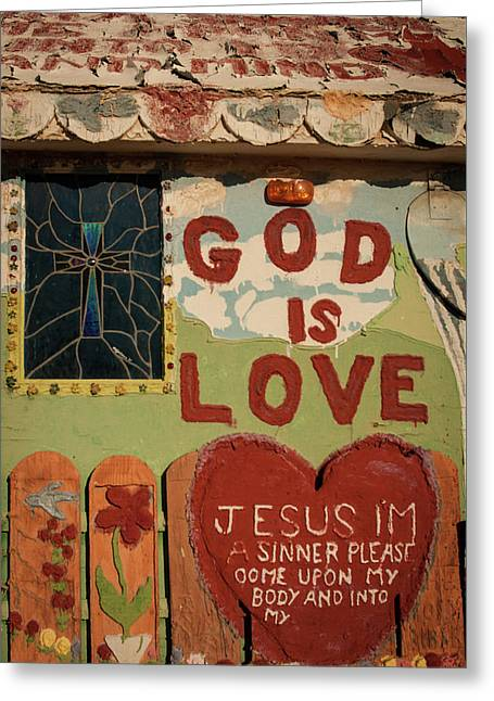 God Is Love Greeting Card by Ralph Vazquez