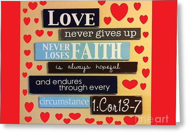 God Is Therefore Love Is A Beautiful Red Greeting Card