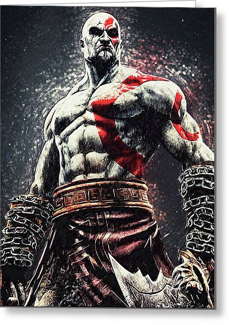 God Of War - Kratos Greeting Card