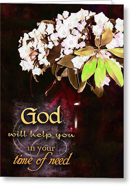 God Will Help You Greeting Card by Michelle Greene Wheeler