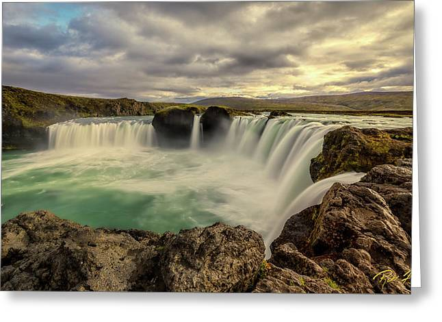 Greeting Card featuring the photograph Godafoss In Late Afternoon by Rikk Flohr