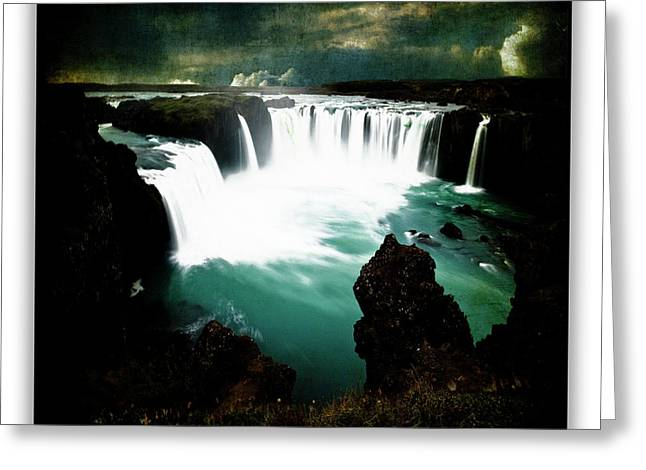 Godafoss Greeting Card by Ingrid Smith-Johnsen
