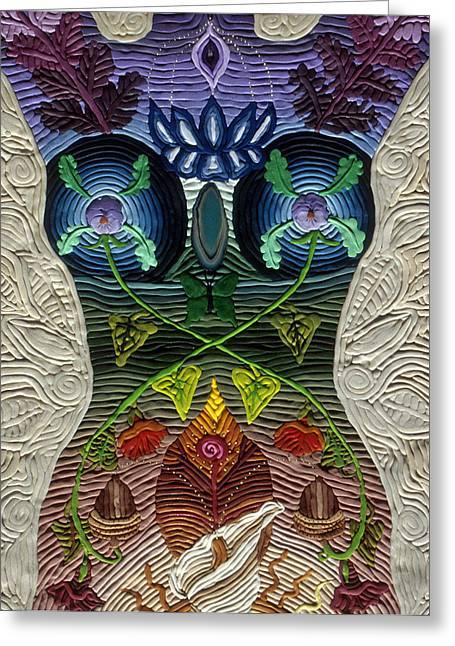 Godbody Greeting Card by Arla Patch