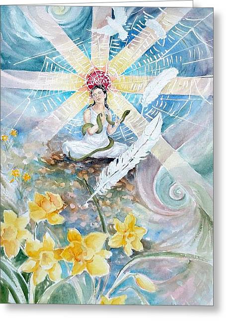 Goddess Awakened Greeting Card