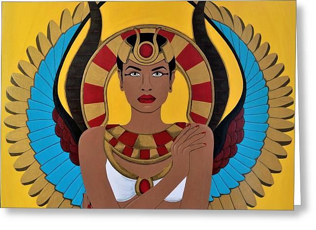 Goddess Hathor Greeting Card