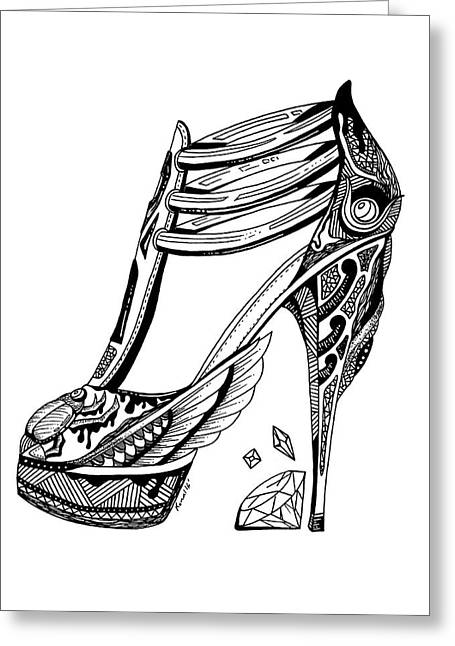 Goddess Isis High Heel Greeting Card by Kenal Louis