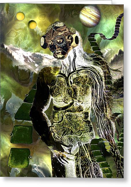 Goddess Of A New Earth Greeting Card by Lisa Yount