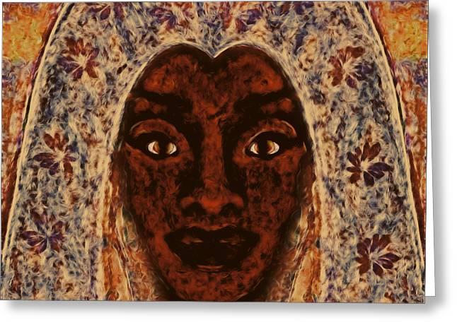 Goddess Of Faith Greeting Card