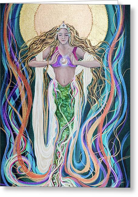 Goddess Of Intention Greeting Card by Angel Fritz