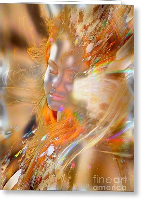 Goddess Of Rainbows Greeting Card