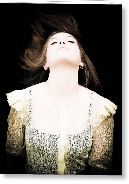 Goddess Of The Moon Greeting Card by Loriental Photography