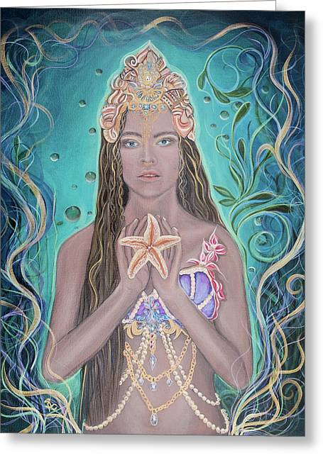 Goddess Of The Sea  Greeting Card by Angel Fritz