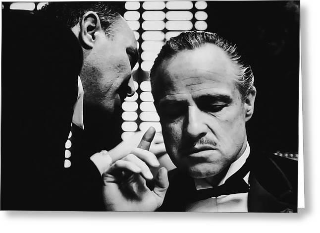 Godfather Brando Greeting Card by Daniel Hagerman