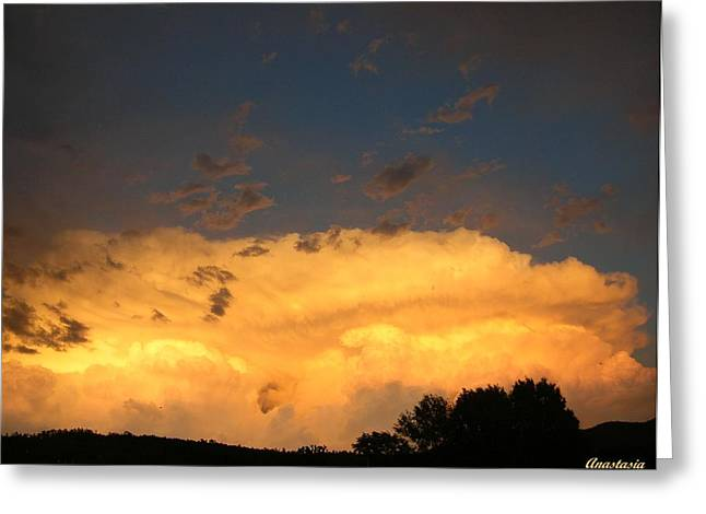 Greeting Card featuring the photograph God's Answer To Rain Prayers by Anastasia Savage Ealy